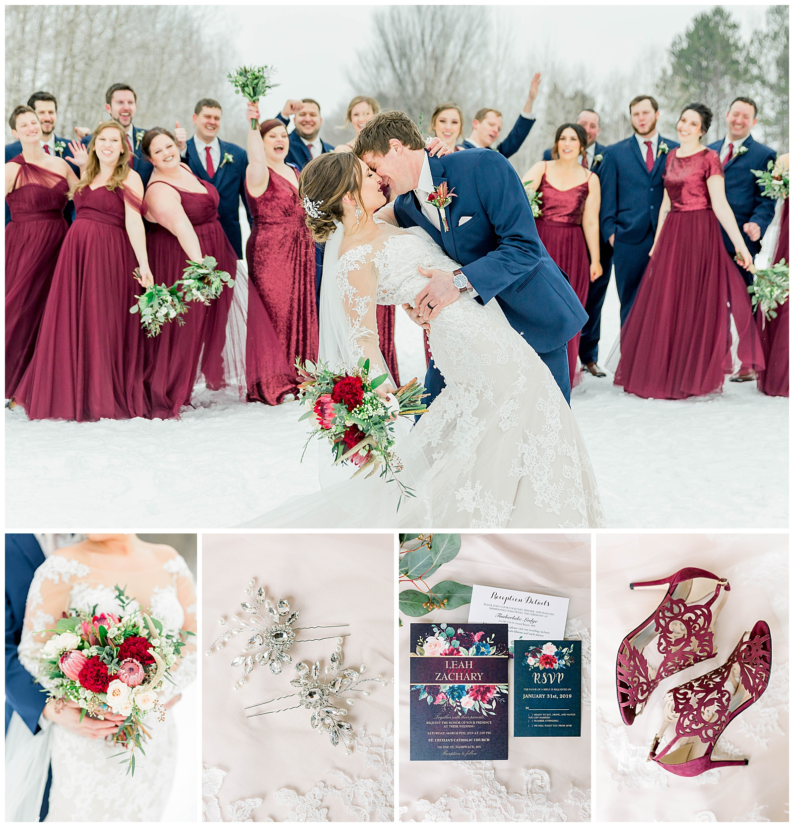 An Iron Range Winter Wedding At The Timberlake Lodge In